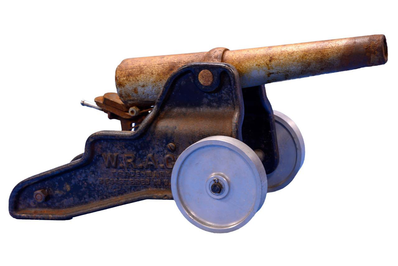 old 10 gauge small cannon white